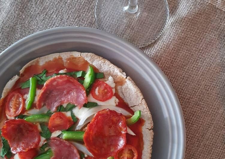 Pizza de pan Pita