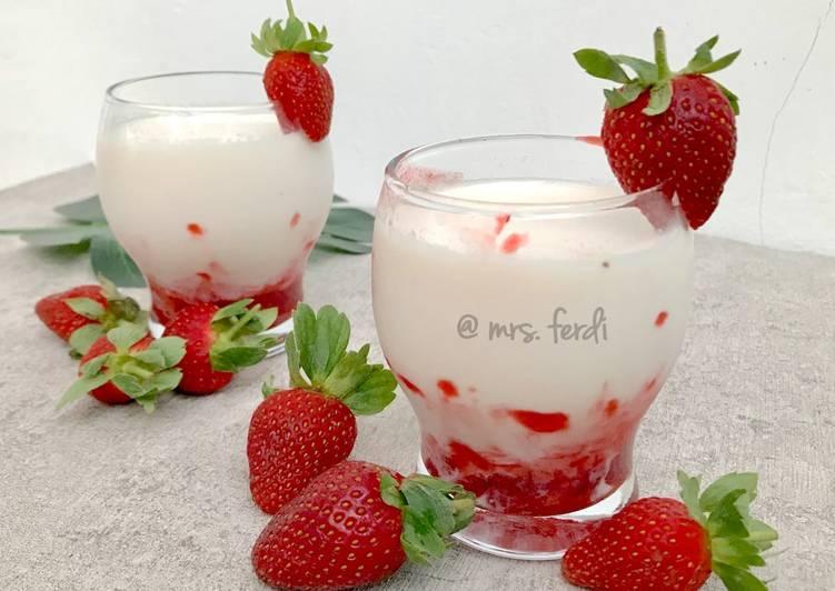 Korean Strawberry Milk 🍓
