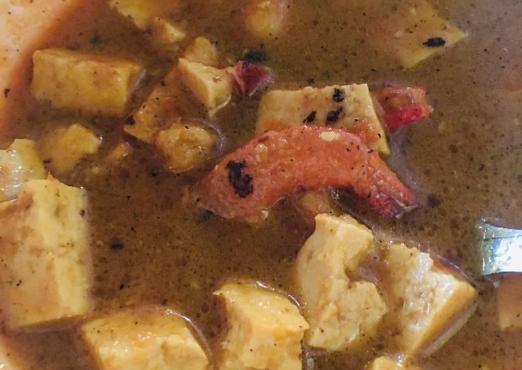 Resep Gulai udang tahu rendah kalori