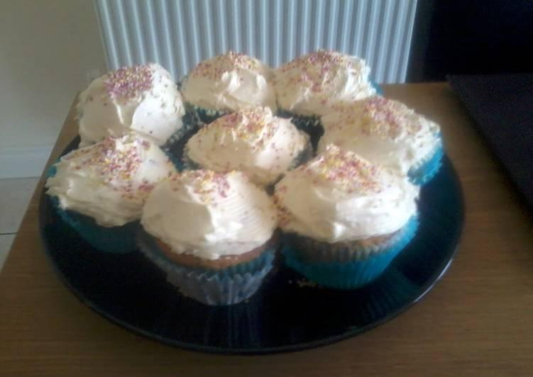 Information on How to Elevate Your Mood with Food Michael C's Vanilla Cupcakes