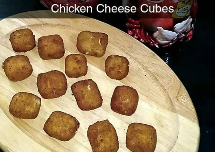 Chicken cheese cubes