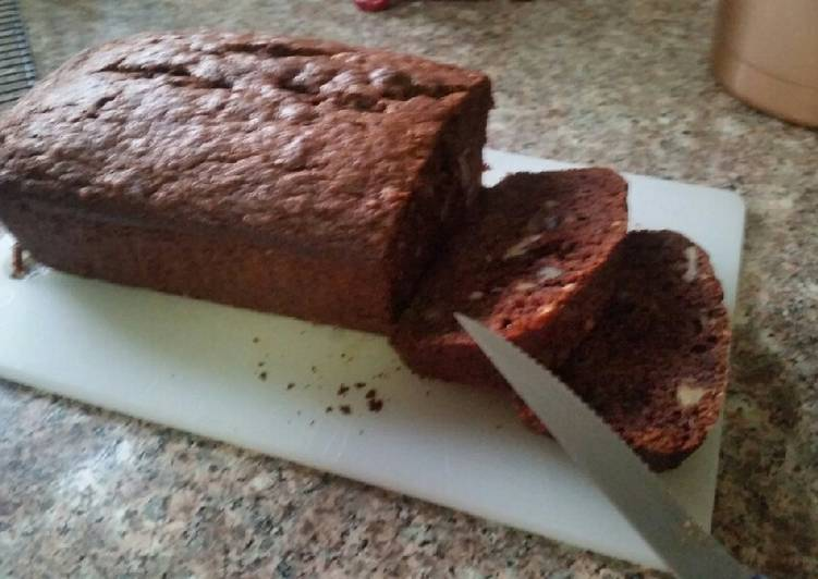 Chocolate, Walnut Banana Bread