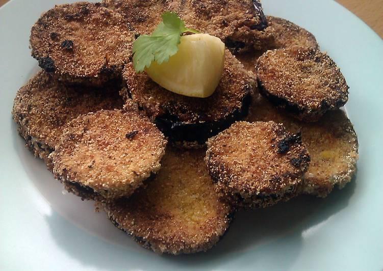 Vickys Cornmeal Fried Aubergine / Eggplant, GF DF EF SF NF