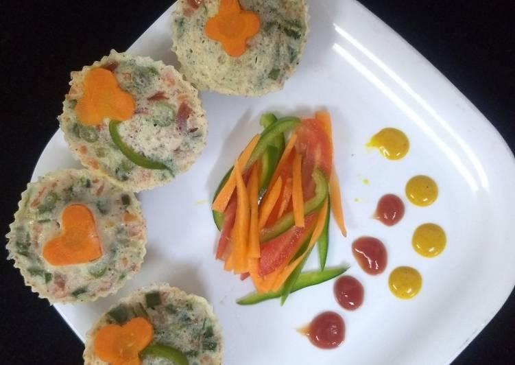 Easiest Way to Prepare Homemade Veggies egg muffins