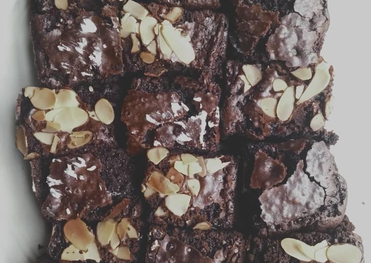 Cara buat Fudge brownies shiny crust , Enak Banget