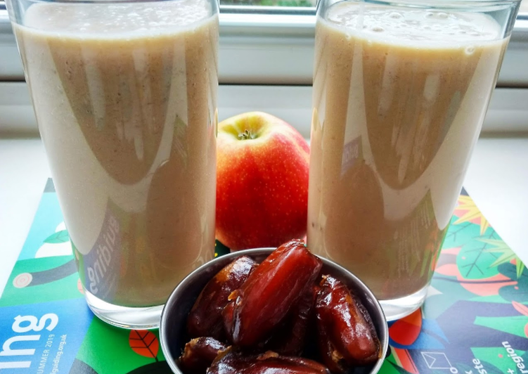 Step-by-Step Guide to Make Super Quick Homemade Apple & date smoothie