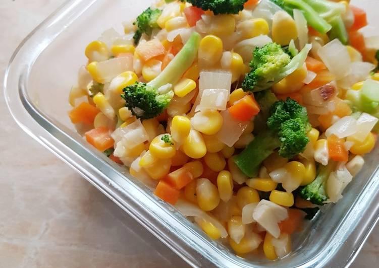 Resep 294. Tumis Brokoli Jagung yang Lezat Sekali