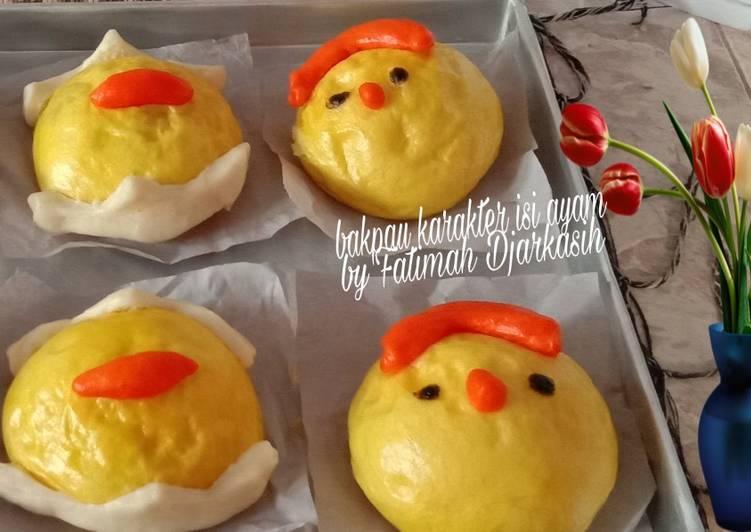 Resep Bakpau Karakter Isi Ayam Terenak