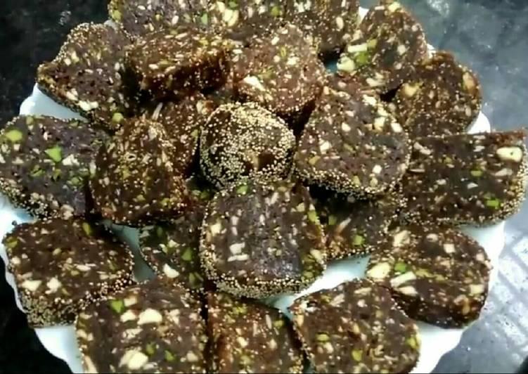 Khajur or date dry fruits dessert