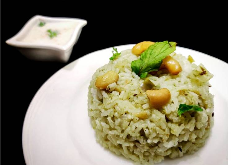 Steps to Make Speedy Mint pulao