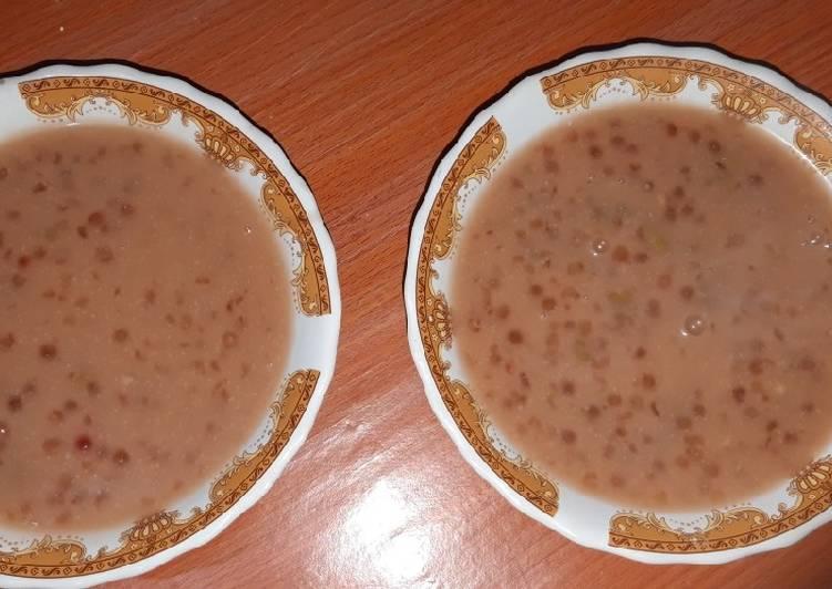 Burjo (bubur kacang ijo & sagu mutiara)