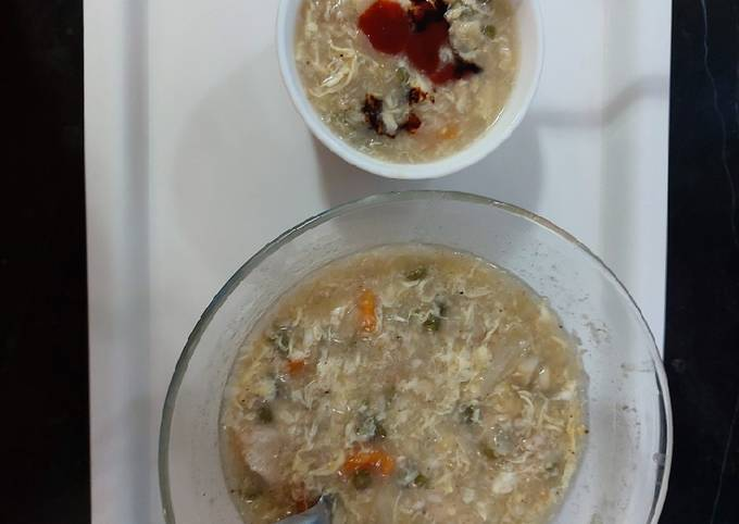 Oats chicken and veg soup/ healthy and delicious creamy soup