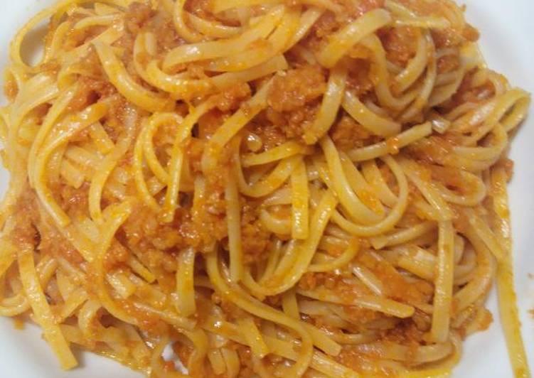 Spaghetti vegetarian Seitan Bolognese