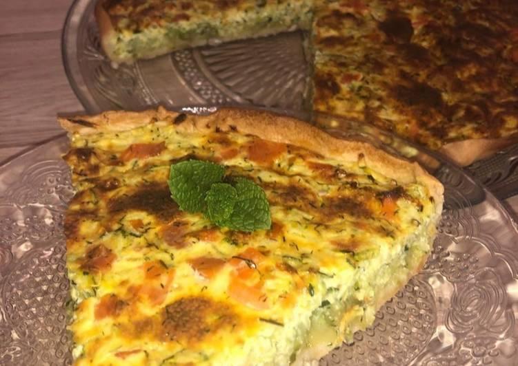 Tarte aux courgettes/saumon