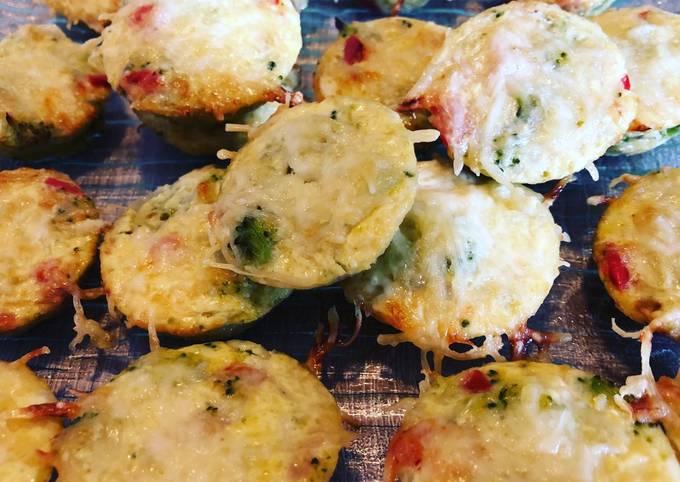 Muffins aux brocolis et poivrons