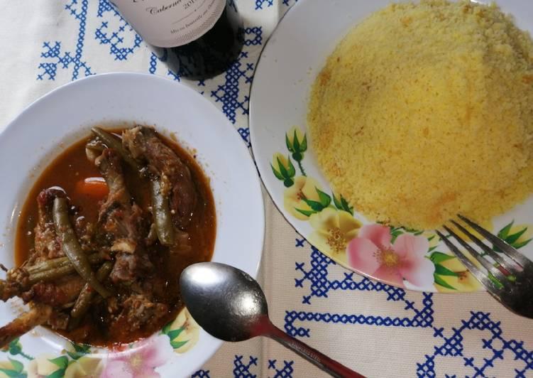 Couscous et soupe de légumes à la viande