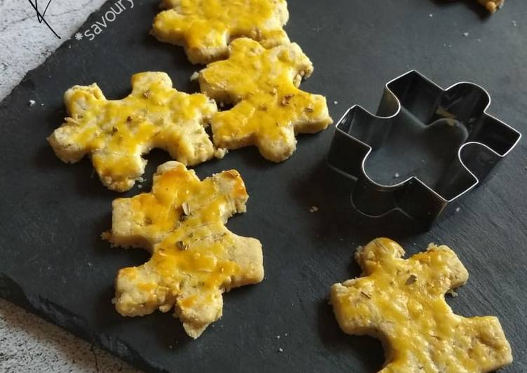 46.1~ Kukis Puzzle *savory gluten-free cookies