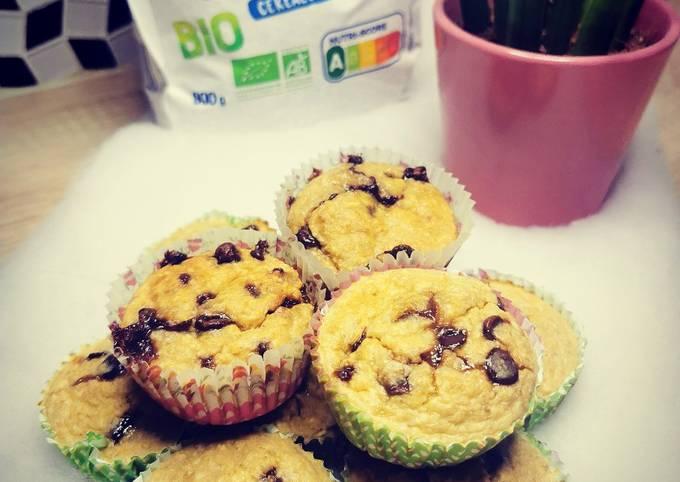 Muffin flocon d'avoine, banane