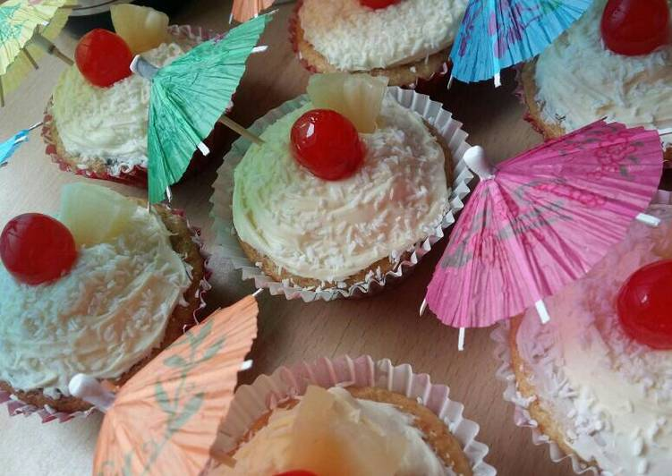 How to Make Ultimate Vickys Pina Colada Cupcakes, GF DF EF SF NF