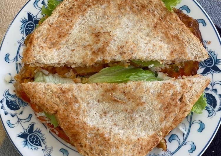 Sandwich Panggang Telur Wortel Praktis (Bisa untuk diet)