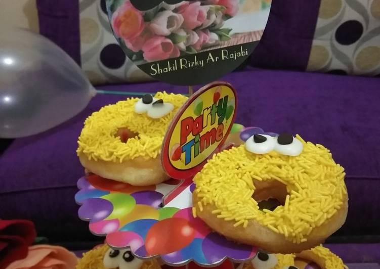 Kreasi Donut Ultah Recommended (Donut Premix), topping lucu 😍