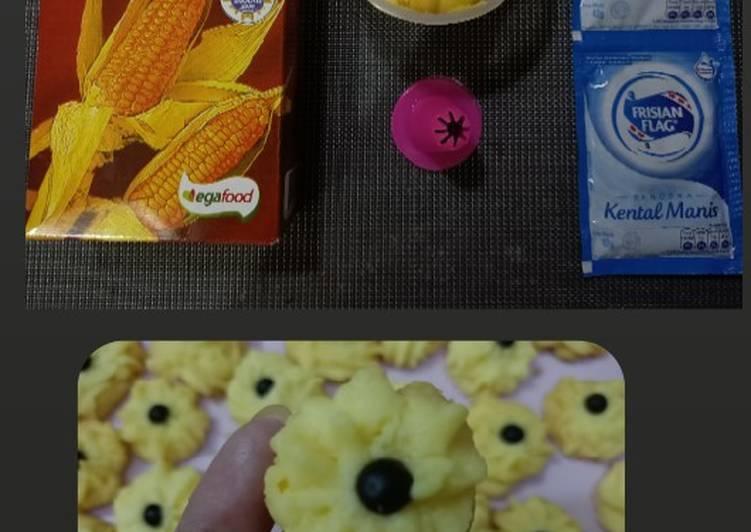 Kue Semprit 3 bahan, no Mixer, No oven