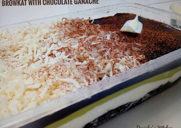 Resep Browkat With Chocolate Ganache Oleh Icha Khaerunnisa Cookpad