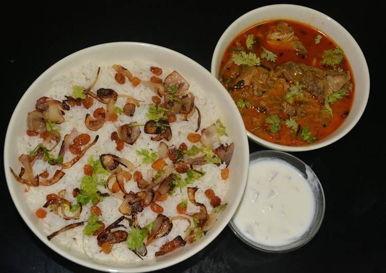 Ghee Rice & Chicken Curry