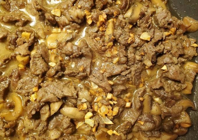 Garlic Pepper Beef & Mushroom