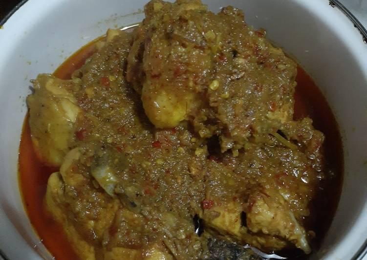 Ayam Betutu (versi setengah kilo ayam)