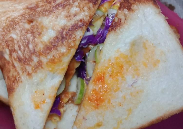 Roti Jhon / Roti Bakar Telur foto resep utama