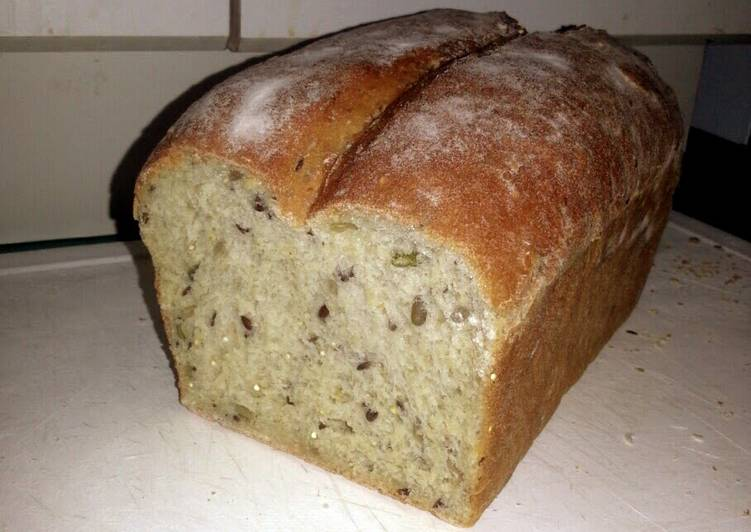 Delicious multigrain olive oil white bread