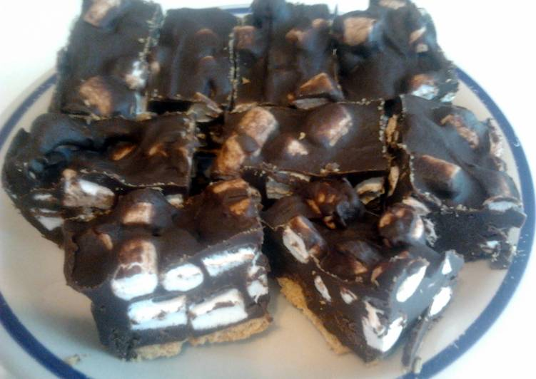 How to Prepare Super Quick Homemade Rocky Road Squares