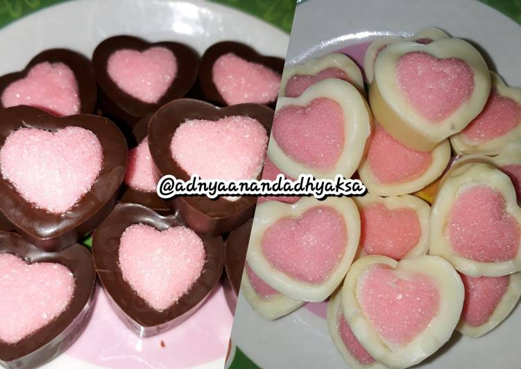 Coklat yupi love #StepByStep #RabuBaru
