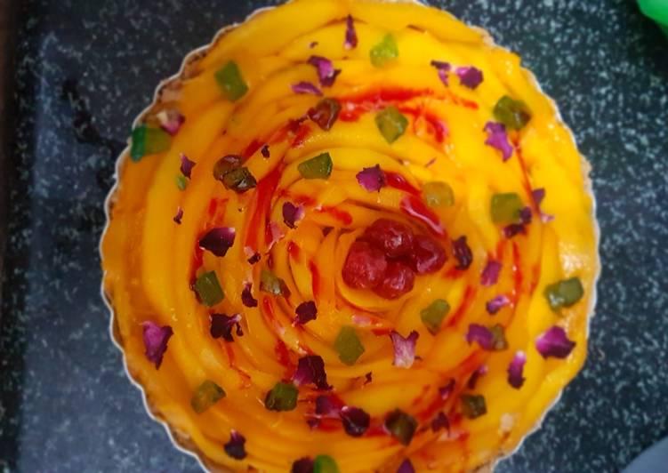 Simple Way to Make Award-winning Mango flower tart