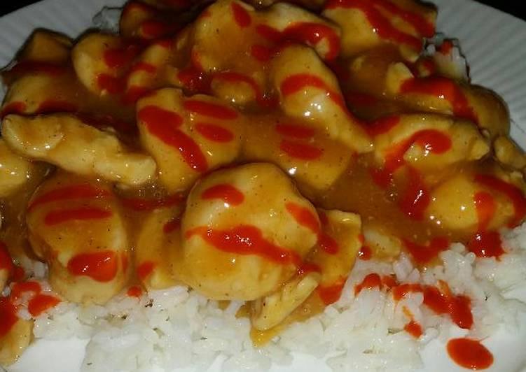 Brad's Sriracha orange chicken