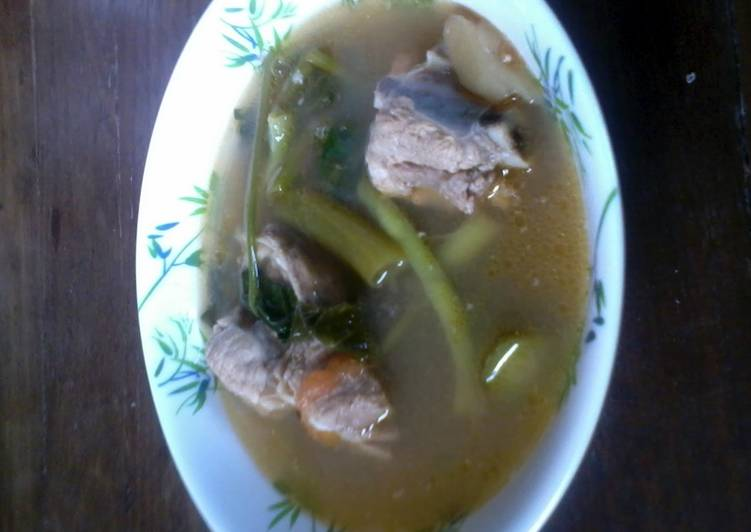 Recipe of Quick spare ribs and vegetable soup