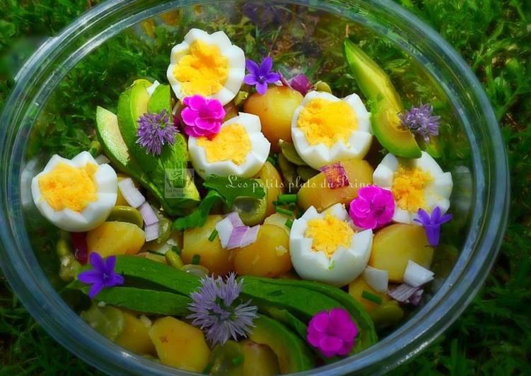 Comment faire Préparer Appétissante Salade de pommes de terre comme un jardin