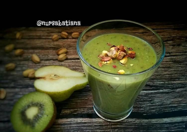 Greentea-Pear Smoothies #PR_smoothies
