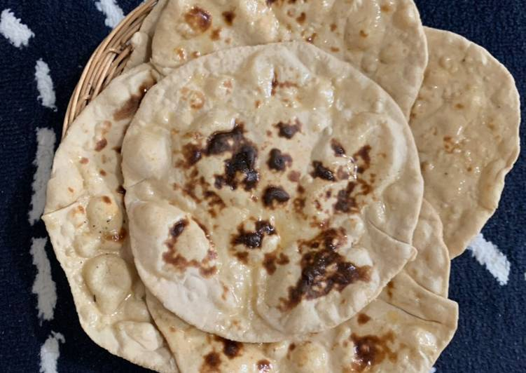 How to Prepare Homemade Wheat flour Tawa Plain Naan
