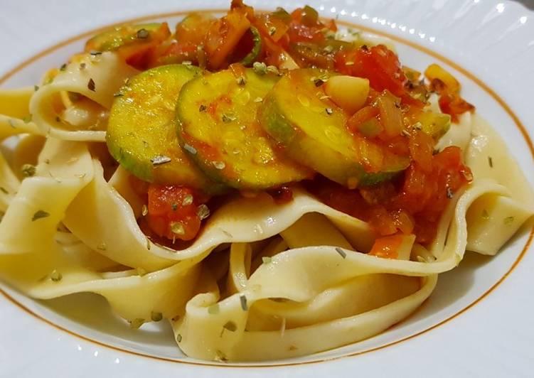 Step-by-Step Guide to Prepare Homemade Vegan Green squash pasta معكرونة نباتي