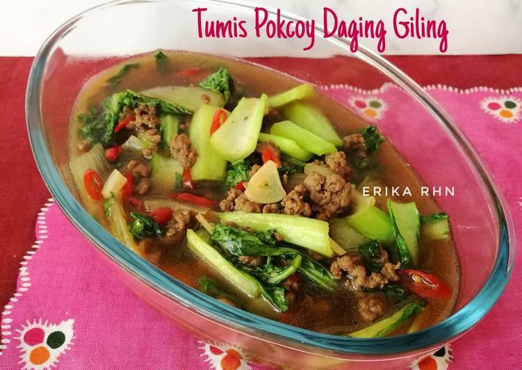 Tumis Pokcoy Daging Giling
