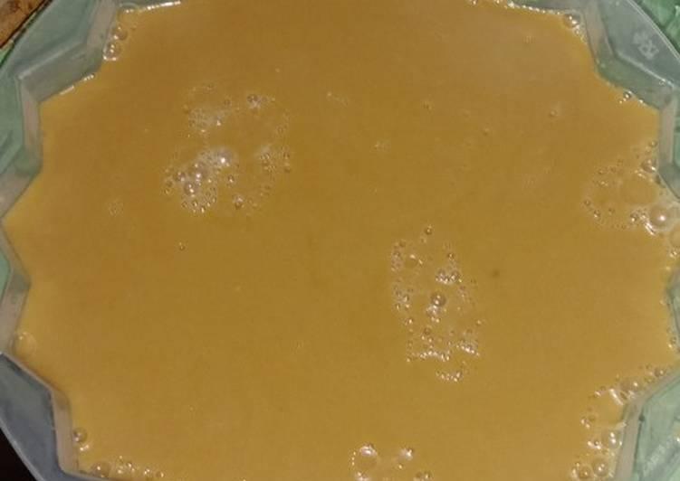 Puding santan Karamel