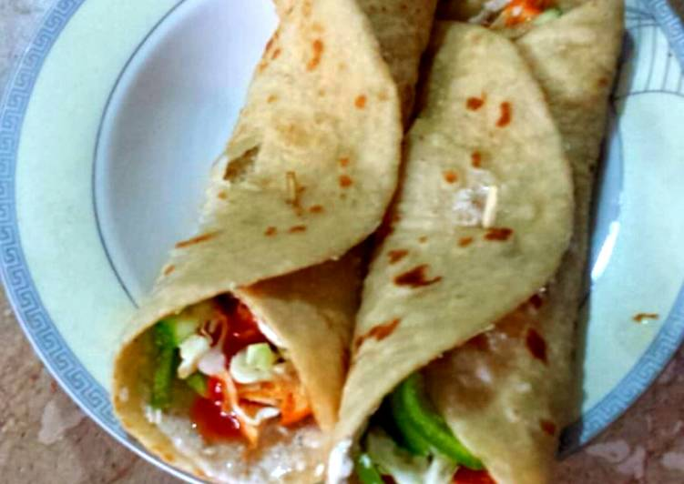 Home Made Shawarma with Lacchay dar Paratha
