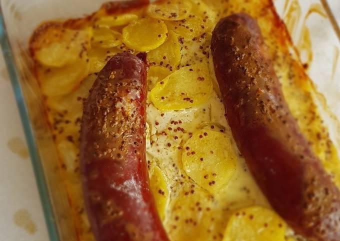 °Dauphinois saucisses/moutarde à l'ancienne°