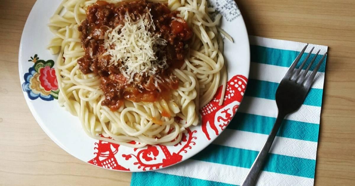 Resep Spaghetti Bolognese A La La Fonte Oleh Dyndyn Ardini Cookpad