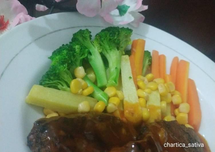 Steak sapi barbeque
