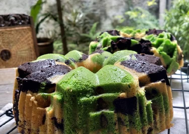 Pandan Marmer Cake