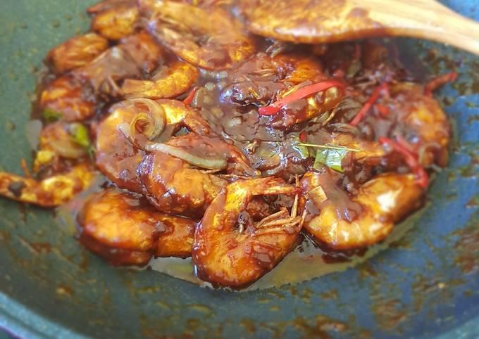 Udang masak Kam Heong