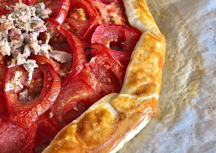 Les Meilleures Recettes de Tarte rustique thon tomate